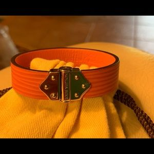 Authentic Louis Vuitton Pink Leather Bracelet
